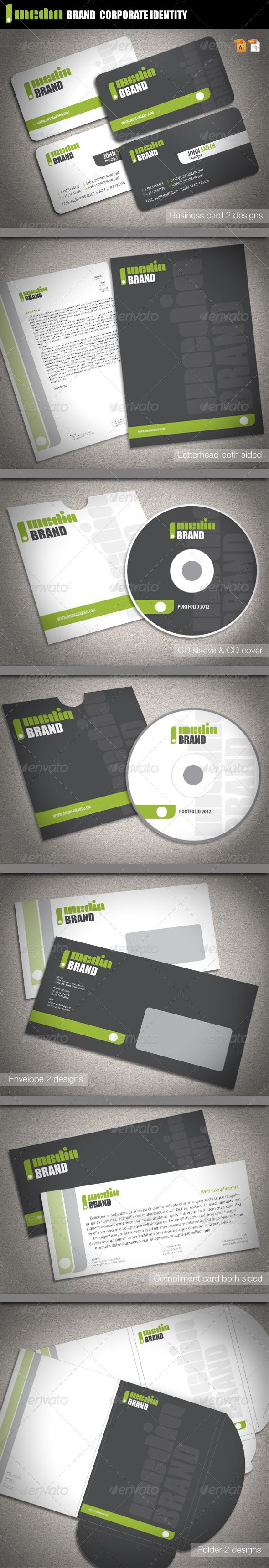 Media Brand Corporate Identity  Corporate Identity Stationery