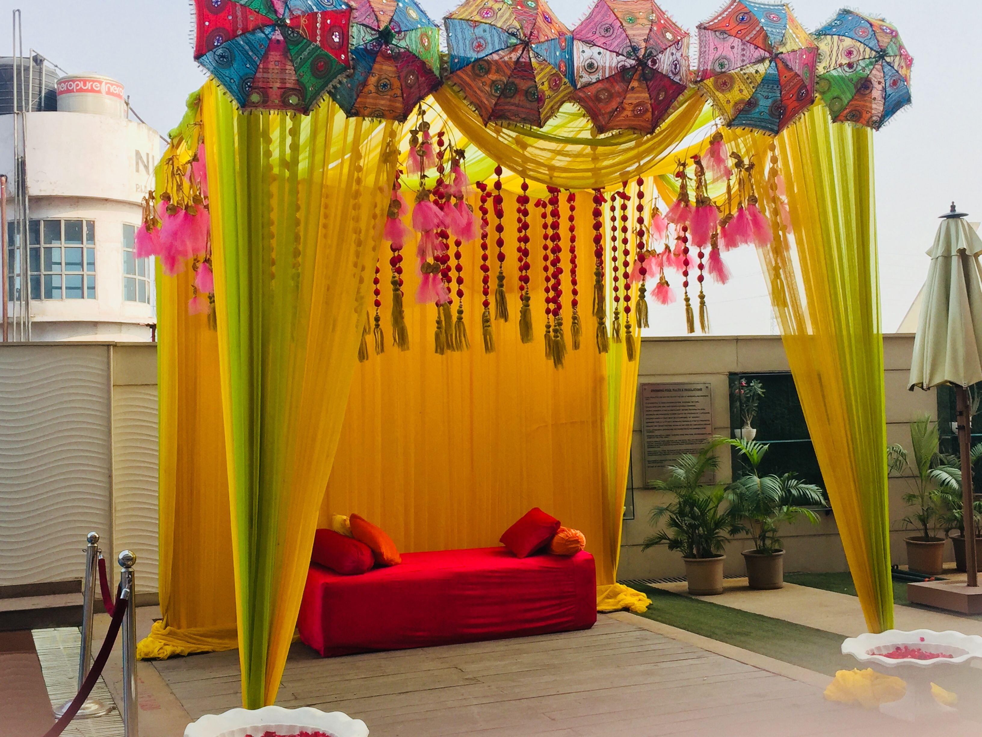 Haldi Decor Hindu Wedding Decorations Home Wedding Decorations