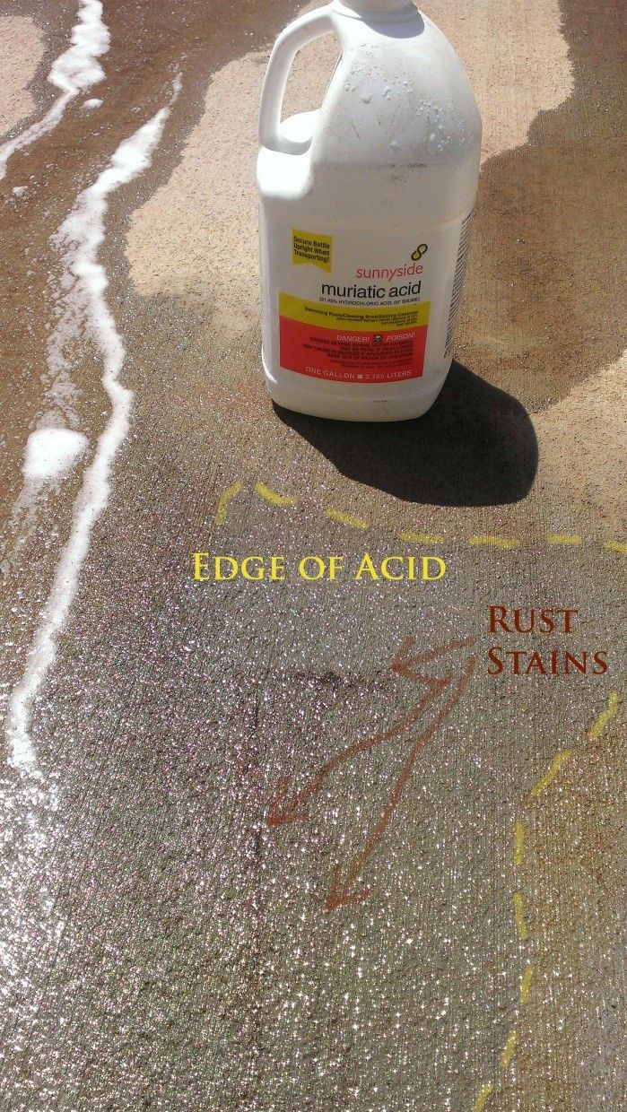 Cleaning Rust Stains Off Concrete See Various Chemicals Tested How To Clean Rust Clean Rust Stains Concrete