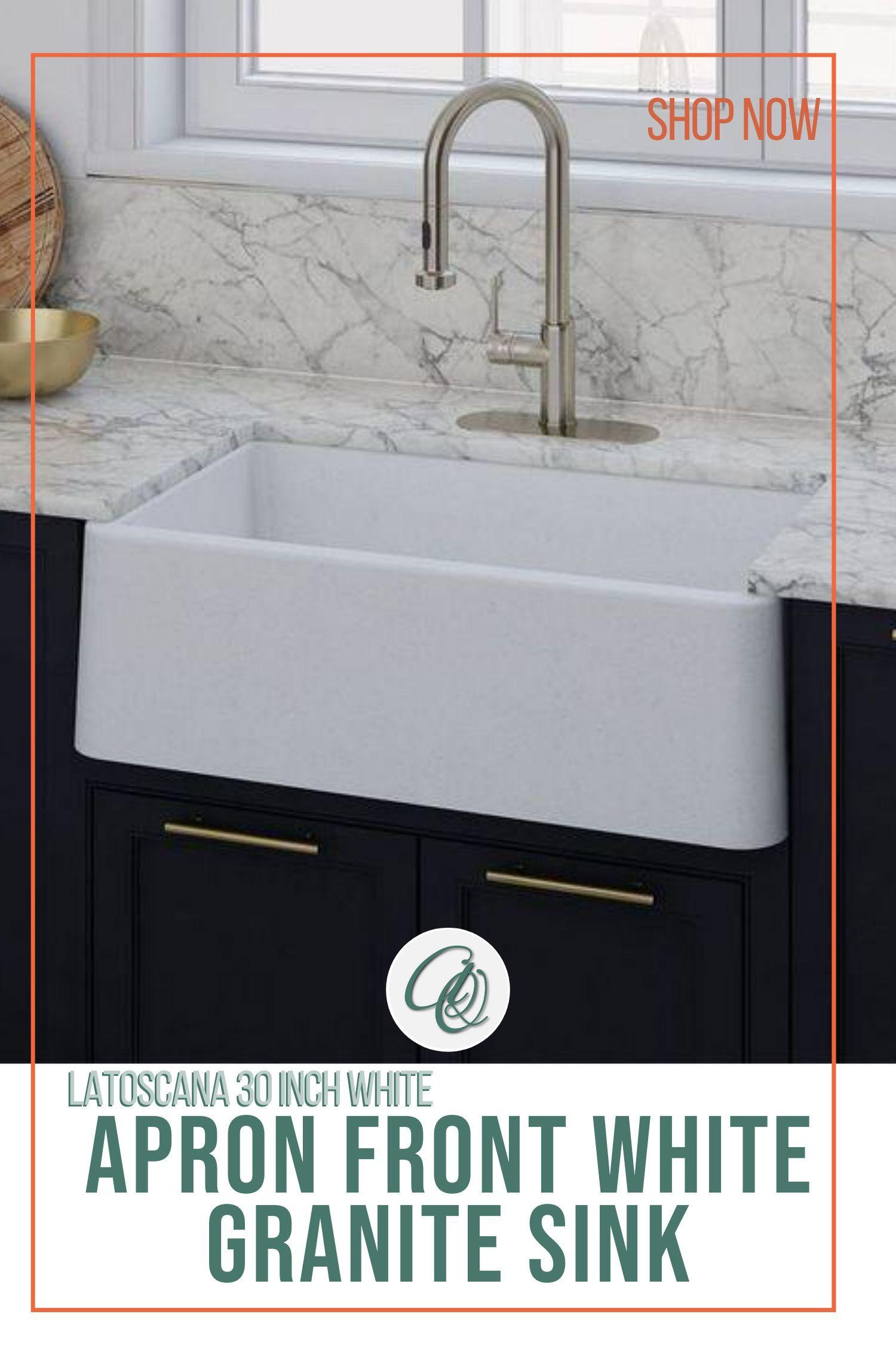 Latoscana La3019w 30 White Metallic Granite Farmhouse Sink Sink Farmhouse Sink Industrial Decor Kitchen