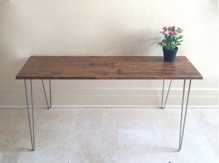 48x20 Rustic Desk by goldenrulenyc on Etsy