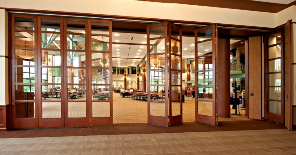 outstanding glass wall with wooden frame 12