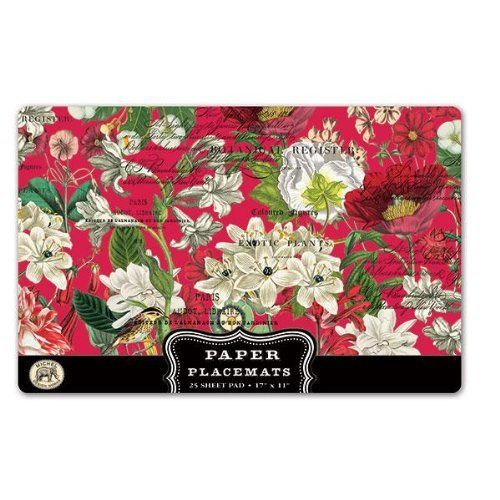 Placemats 25 Per Pack Place Mats For Table Mats Paper Placemat Set White Christmas By Michel Designs Love These Just Use It And Throw Away