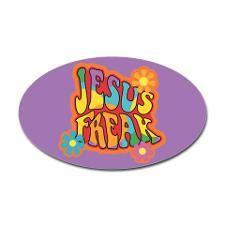 Jesus Freak Oval Sticker for
