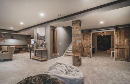 super home gym basement barn doors ideas home  small