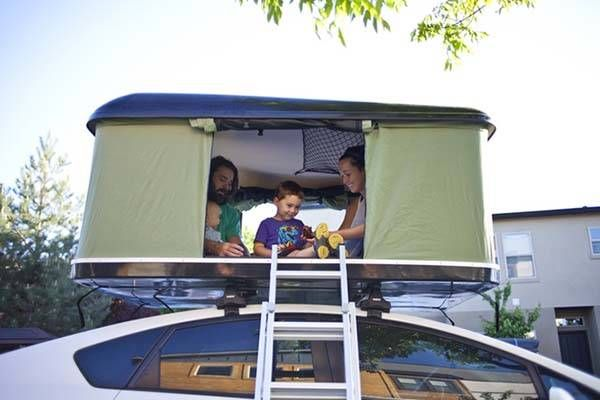 The BlackFin C&er Box is a hard shell rooftop tent that fits on most cars and racks. You can install it in around 15 min and pop it open in just 30 secon. & The BlackFin Camper Box Hardshell Tent Set up on Top of Your Car ...