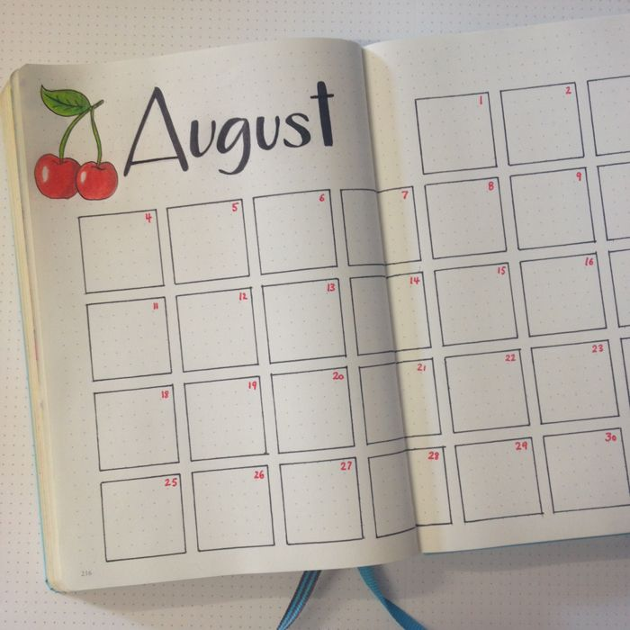 My August Set Up in my Bullet Journal: Changing things ...