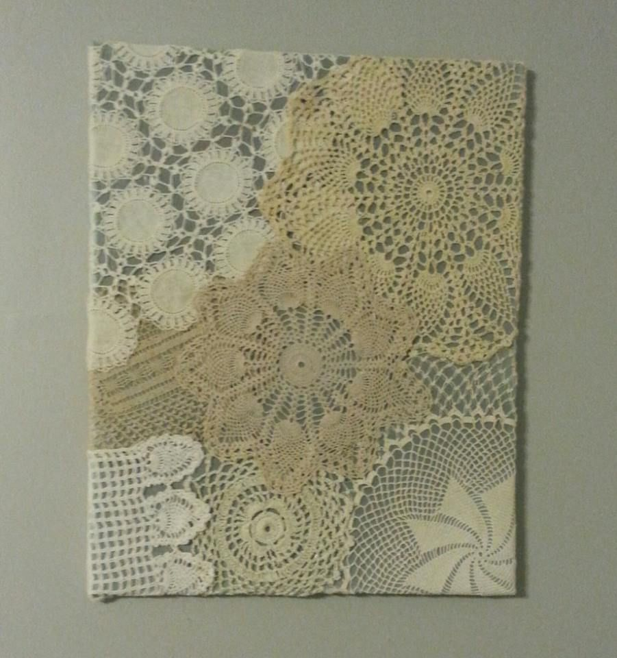 crochet wall art with crocheted doilies love the different colours crochet wall art. Black Bedroom Furniture Sets. Home Design Ideas