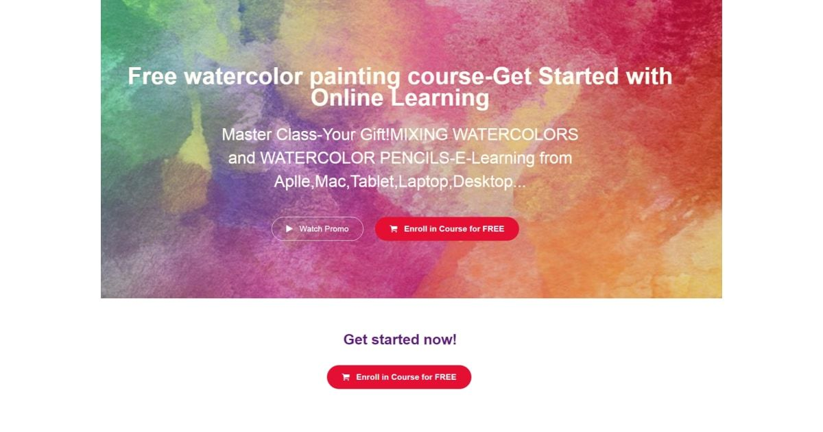 100 Off Watercolor Mini Course Certificate Enroll In This Course