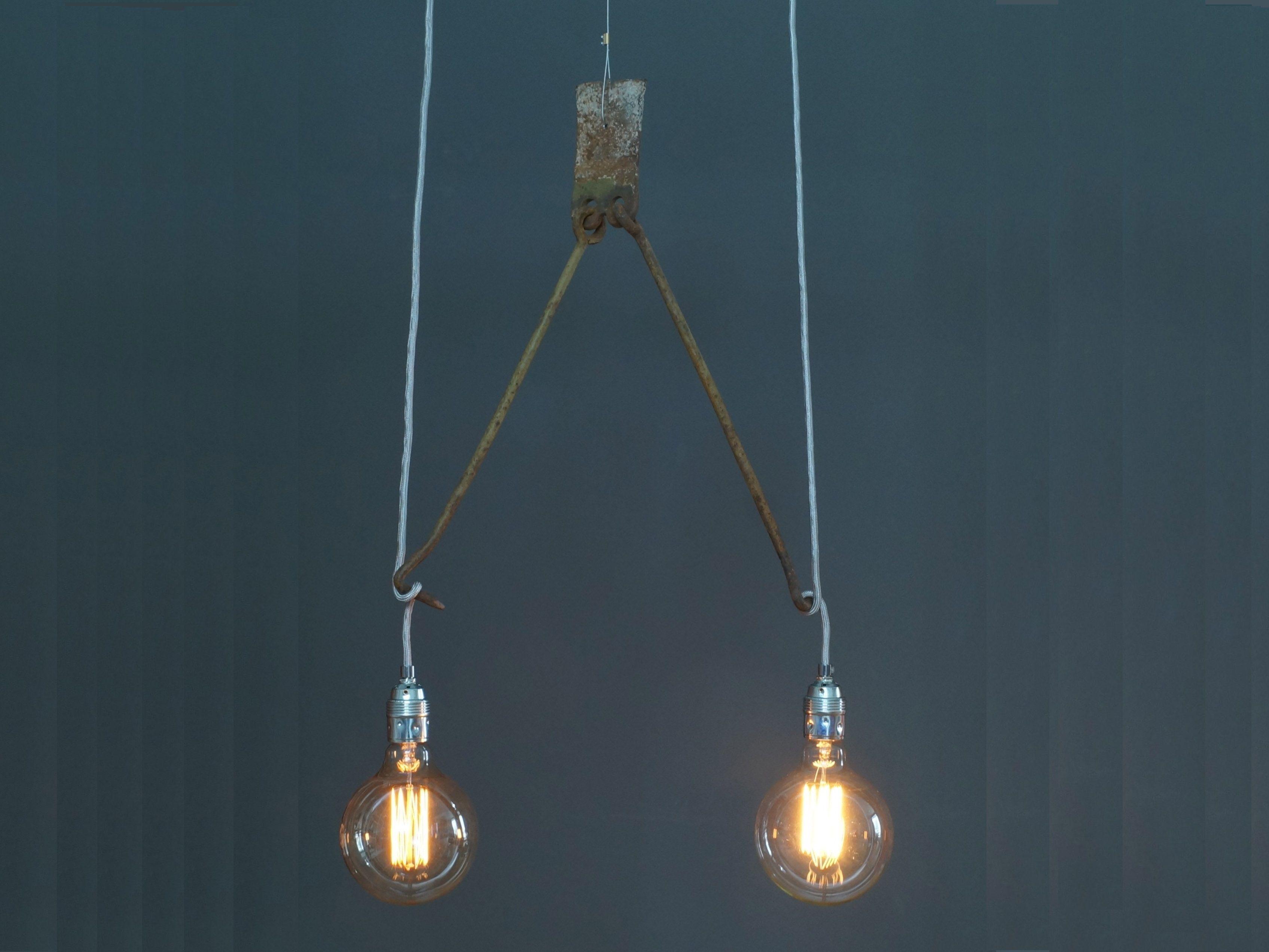Edison Hangelampe Gancio Incl 2 Gluhbirnen Einzelstuck