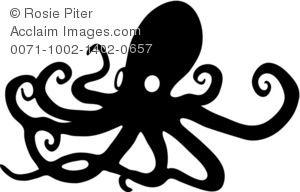 Example for sea creature silhouette