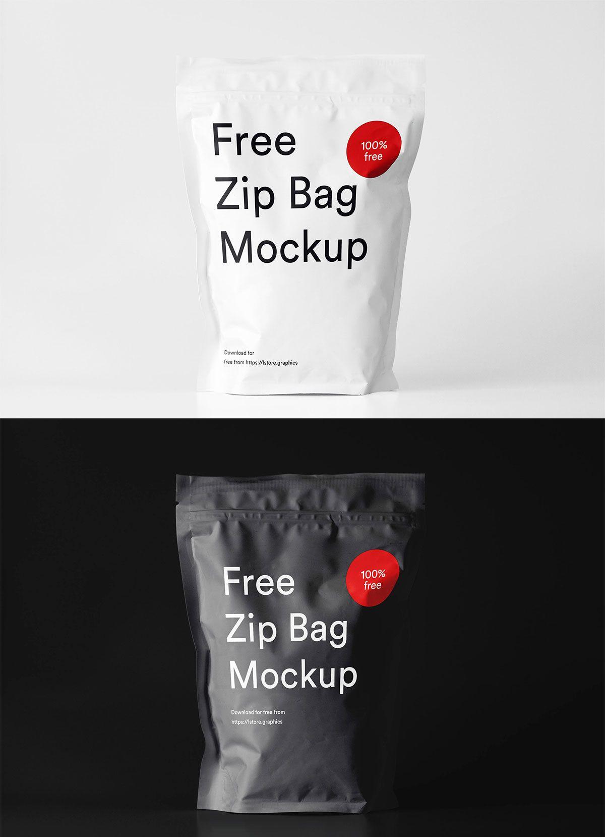 Download Free Zip Bag Mockup Bag Mockup Zipped Bag Free Mockup