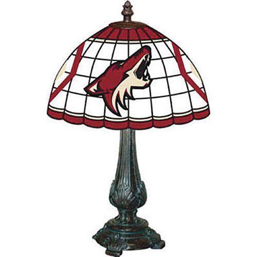 Phoenix Coyotes Desk Lamp Tiffany Style Nhl Hockey Fan Shop Sports Team Merchandise Click Image Twice For Mor Tiffany Style Tiffany Table Lamps Hockey Fans