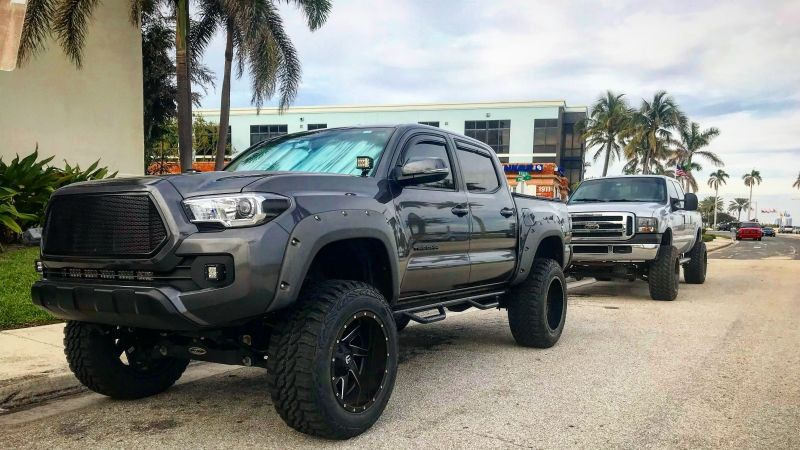 Mgm 3rd Gen Tacoma With Cali Raised Led Lights And A Pro Comp 6 Inch