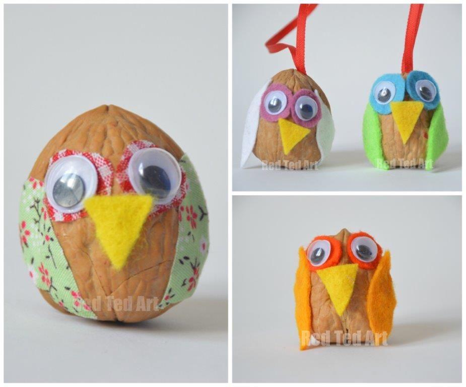 Owl Craft Ideas For Kids Part - 37: Walnut Owls. Diy Kids ...