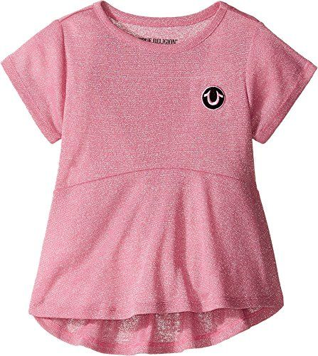 61987a15e1c7 True Religion Kids Baby Girls Glitter Stripe Peplum TShirt ToddlerLittle  Kids Prism Pink TShirt     Find out more about the great product at the  image link.