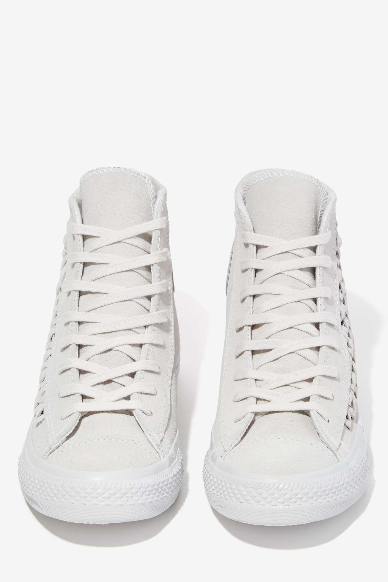 Converse All Star High Top Suede Sneaker Woven Gray