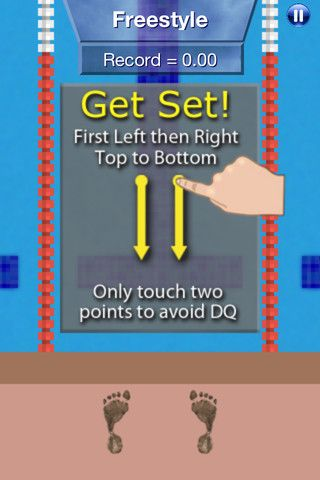 Swim Meet: Finger Racing:  Use finger gestures that are modeled on the actual swimming motion used in each event.