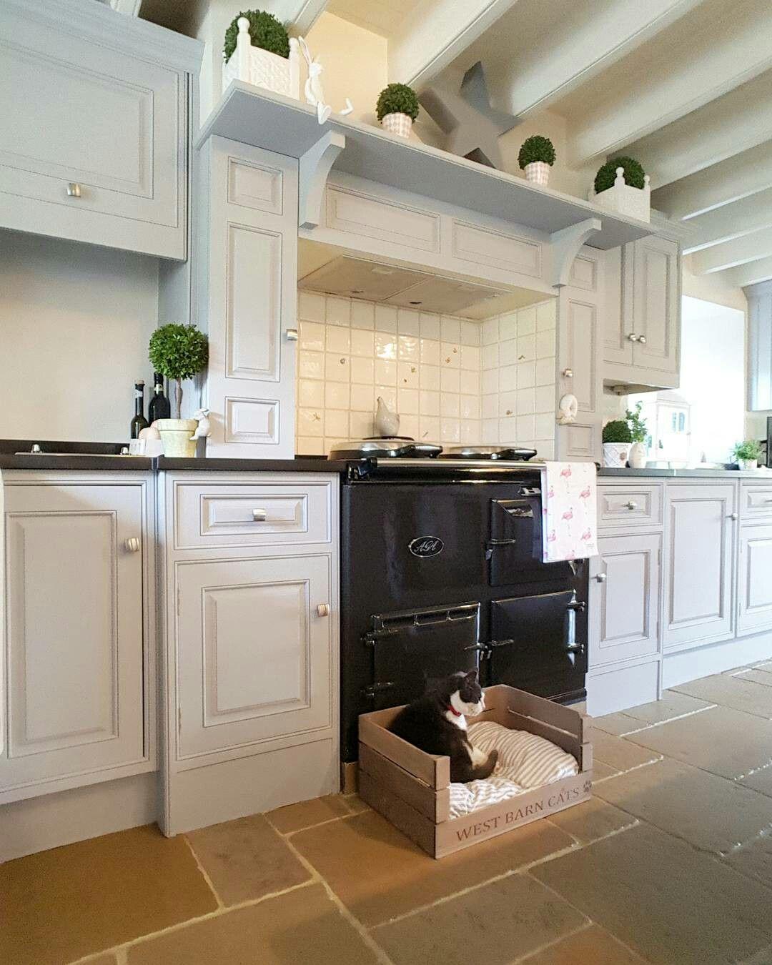 Country Style Kitchen Grey Kitchen Pewter Aga