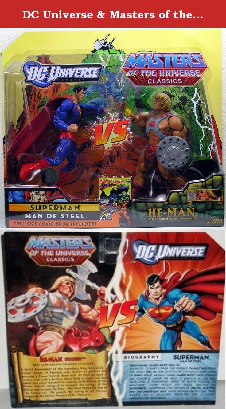 Dc Universe Masters Of The Universe Classics Exclusive Action Figure 2pack Superman Vs Heman D Action Figures Masters Of The Universe Superman Man Of Steel
