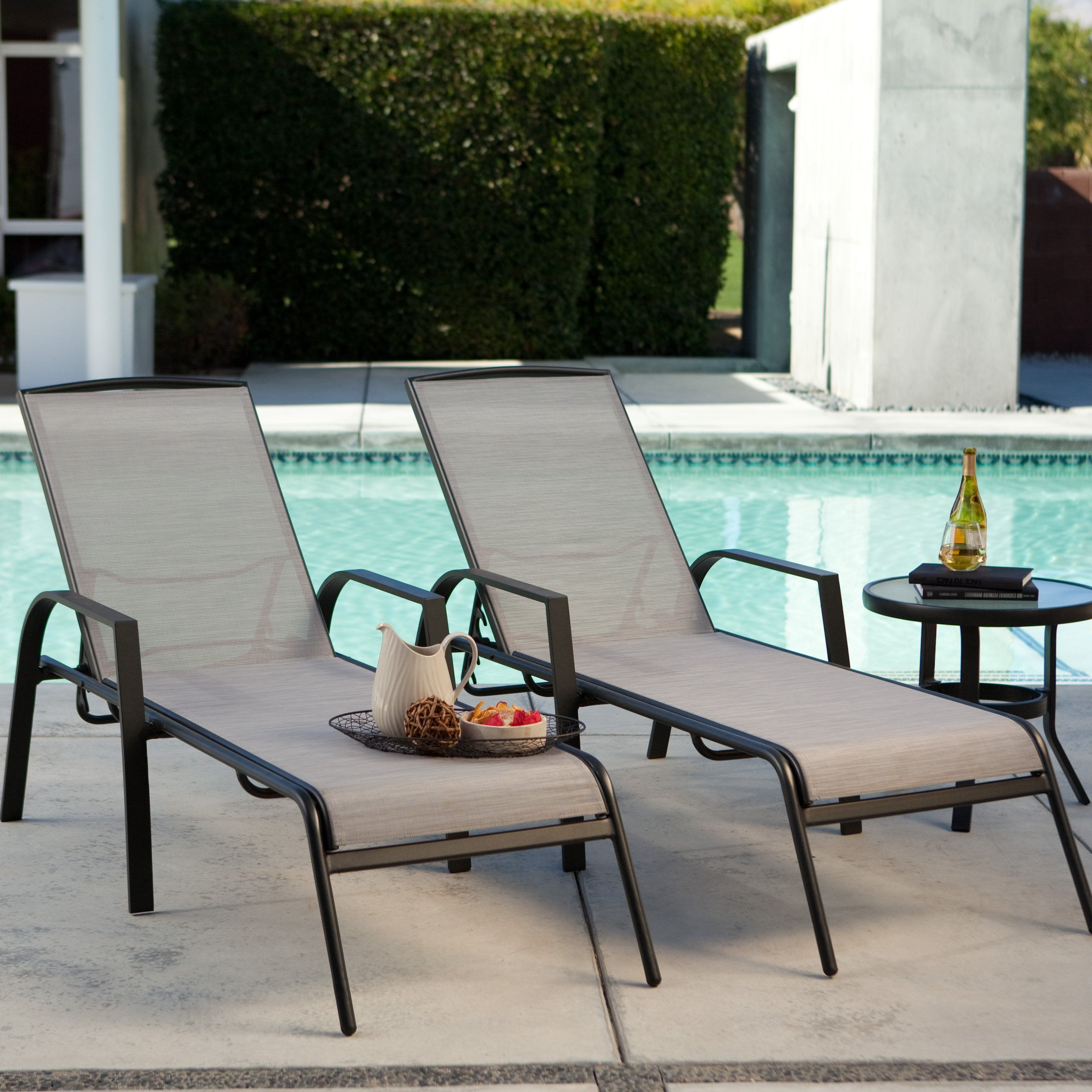 inspiring outdoor chaise lounge | Have to have it. Metropolitan Poolside Chaise Lounge - Set ...