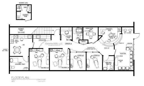 Family And General Dentistry Sample Floor Plans, From 800 To Sq.