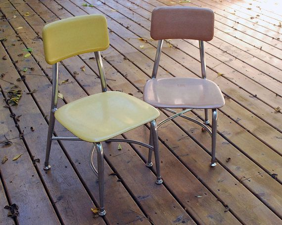 1960s Heywood Wakefield Childu0027s School Chairs By CalloohCallay