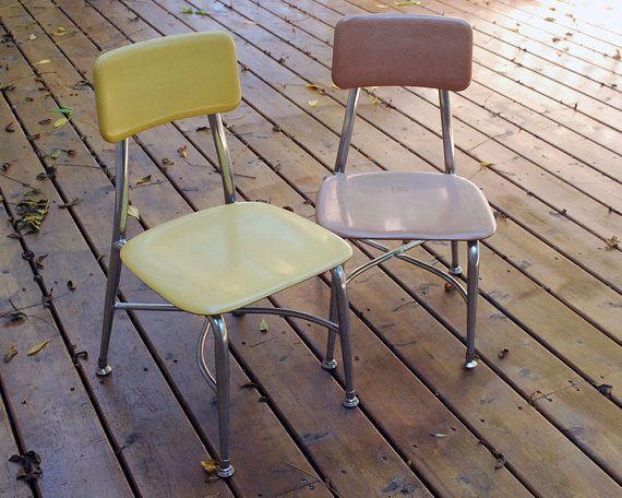 1960s Heywood Wakefield Childu0027s School Chairs By CalloohCallay