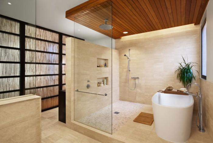 Wood Ceiling For Bathroom Bathroom Interior Master Bathroom
