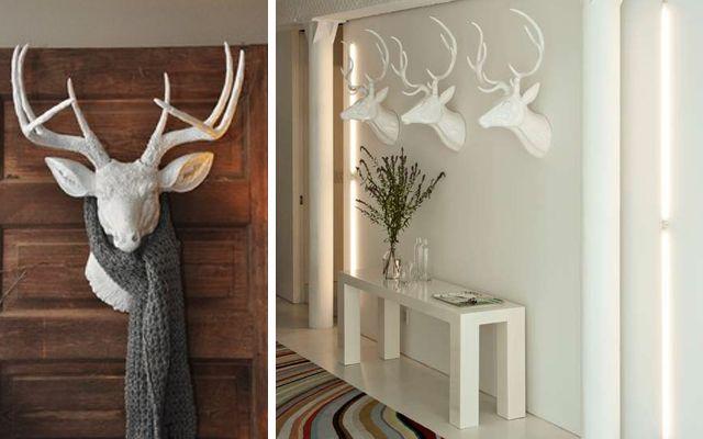 Decorar paredes con cabezas de ciervo mu ecos en fieltro pinterest cabeza de ciervo - Cabeza de ciervo decoracion ...