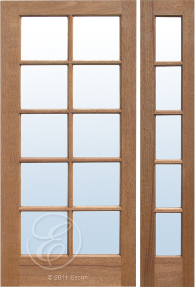 Exterior Solid Mahogany Valencia 10 Lite French Door Dual Pane Clear Glass Door Store America French Doors Solid Mahogany Exterior Doors