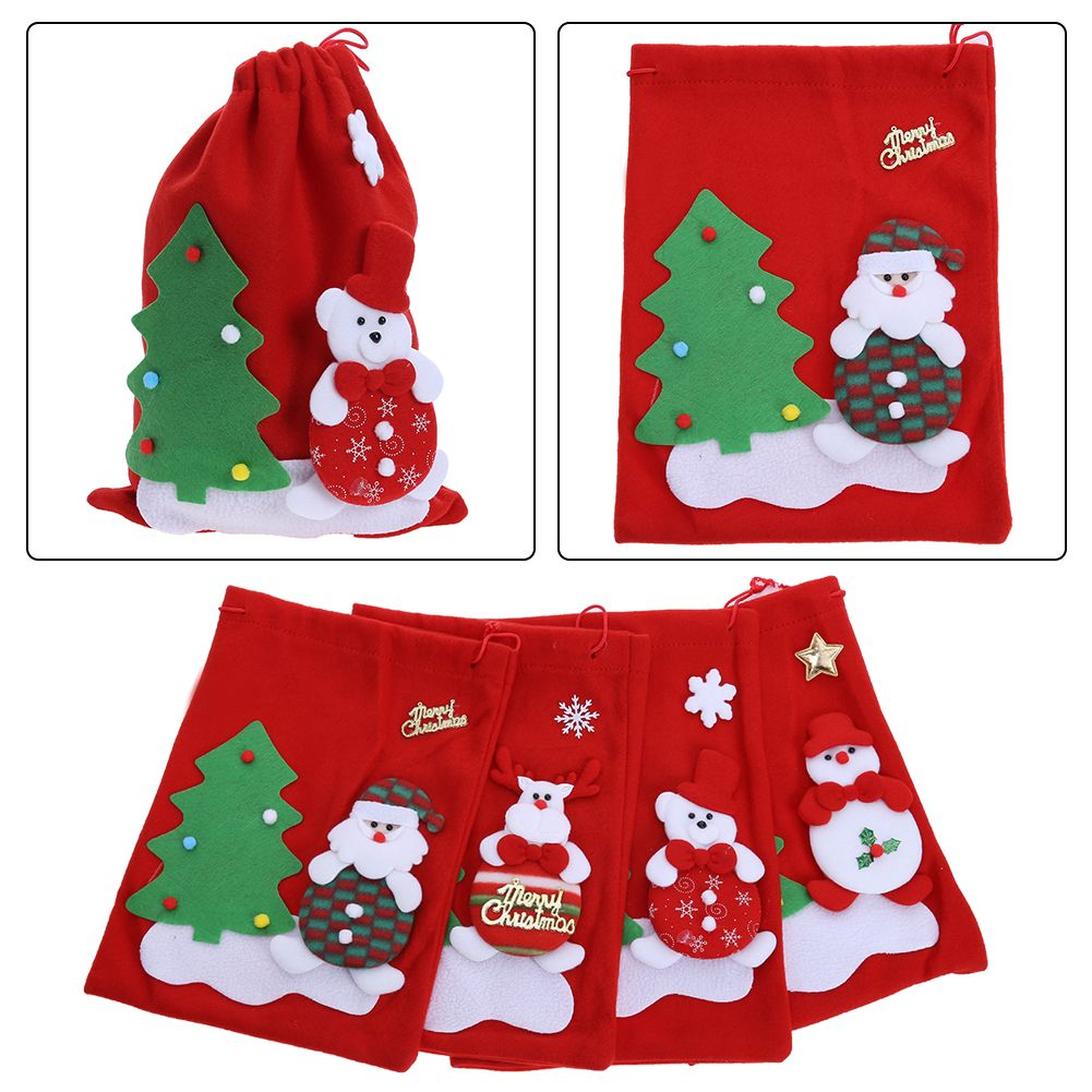 Hot Xmas Santa Claus Gift Bags Merry Christmas Candy Bags Decoration Suppies