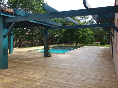 pergolas en bois et terrasse bois exotique gironde jardin