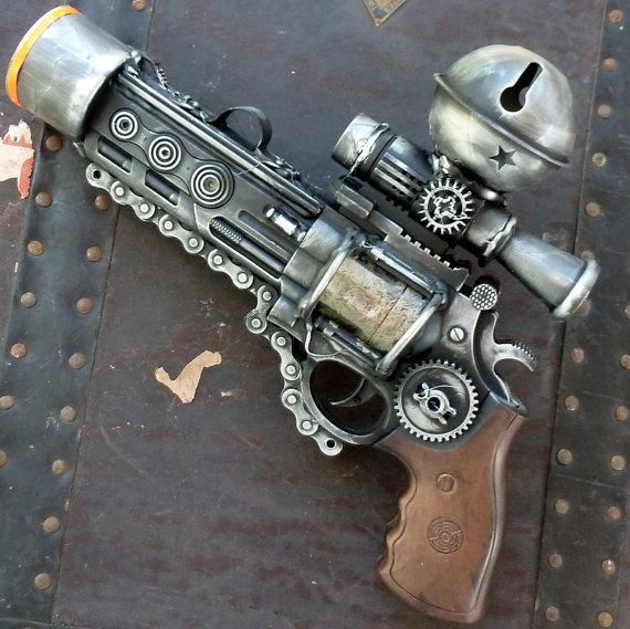 I found 'Steampunk  TESLA gun Victorian scifi pistol by oldjunkyardboutique' on Wish, check it out!
