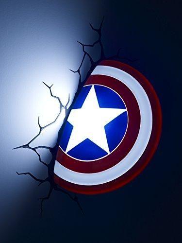 Marvel avengers captain america 3d deco light boys decor marvel avengers captain america 3d deco light aloadofball Gallery