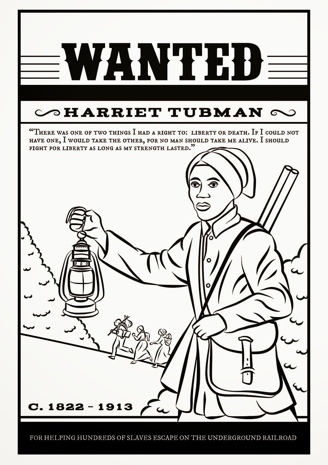 Free Printable Harriet Tubman Coloring Pages