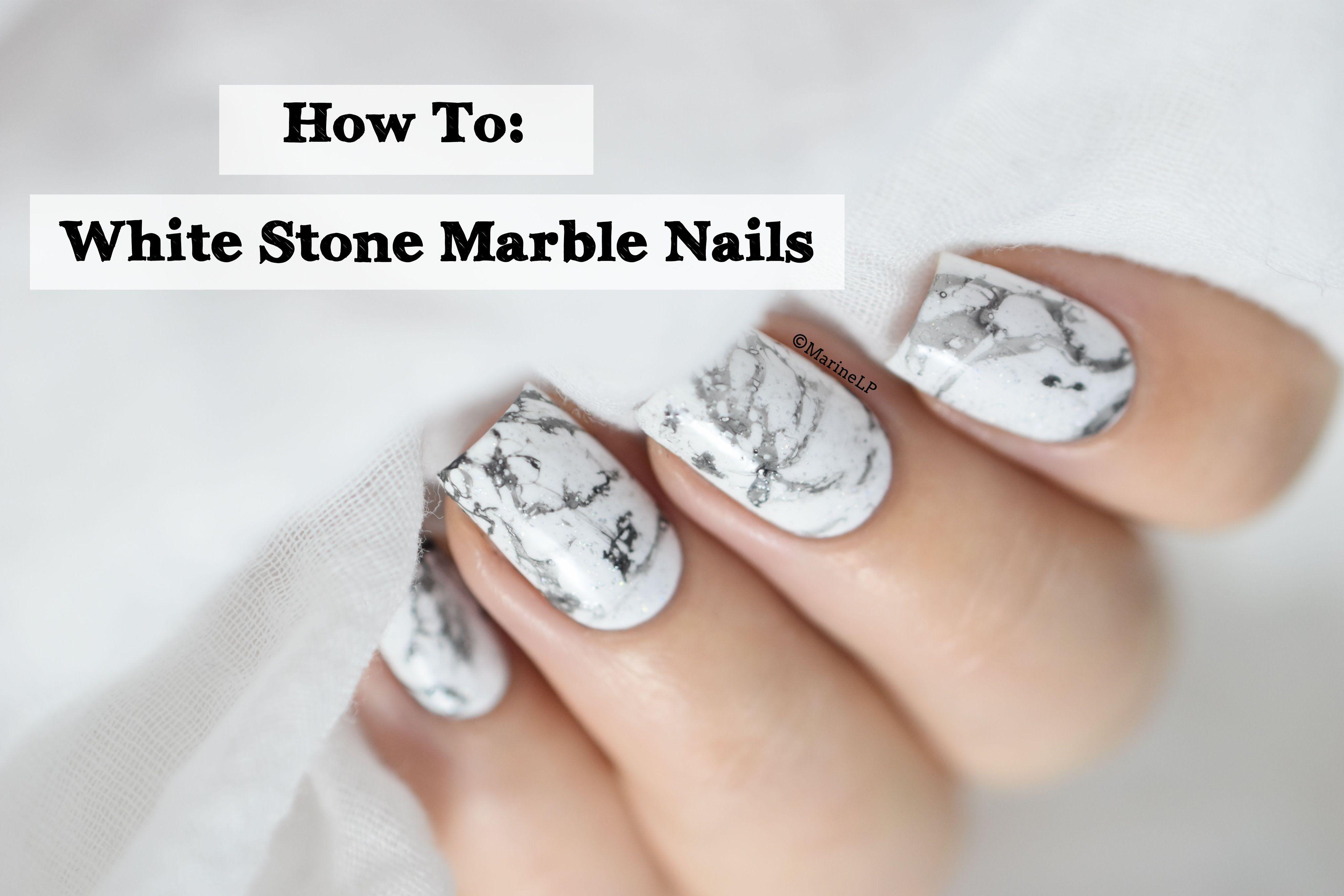 How To White Stone Marble Nails Marine Loves Polish Marble