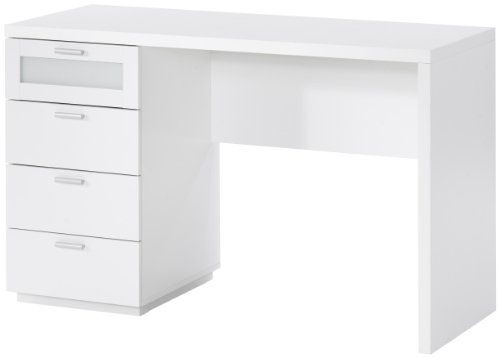 White Desk. White Desks. Tuvan 2 Drawer Desk. Small White Desk Uk ...