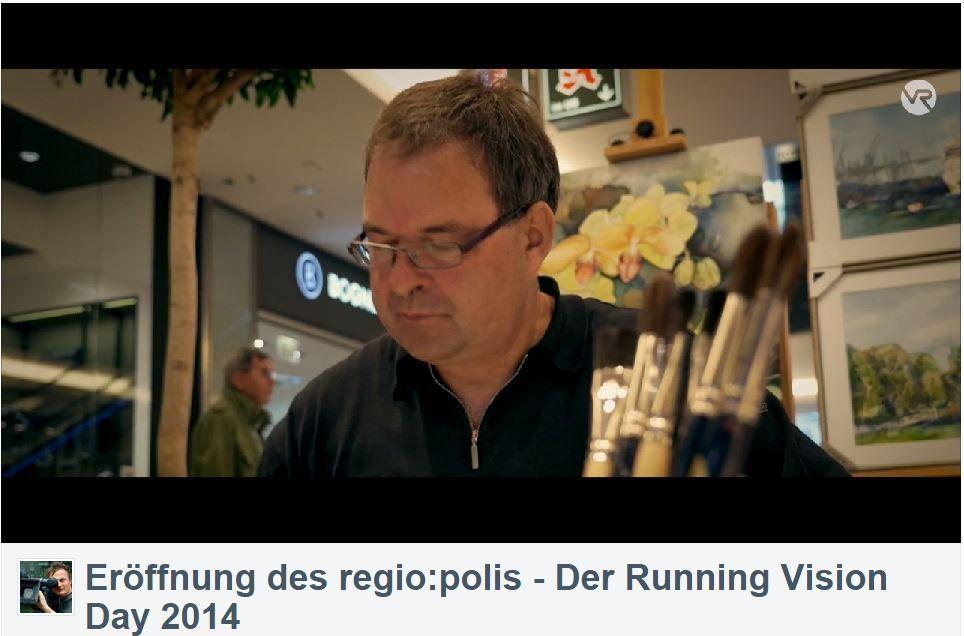 Aquarelle von Frank Koebsch während der regio:polis   Frank Koebsch im Video von Bert Scharffenberg über die Eröffnung des Festivals regio polis (4)