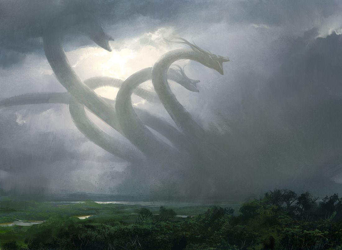 Progenitus Jpg Mythical Creatures Monster Art Hydra Mythology