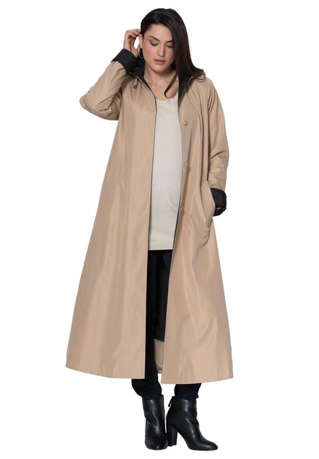Jessica London Women s Plus Size Long Hooded Raincoat     Don t get left  behind 6cae97ce5