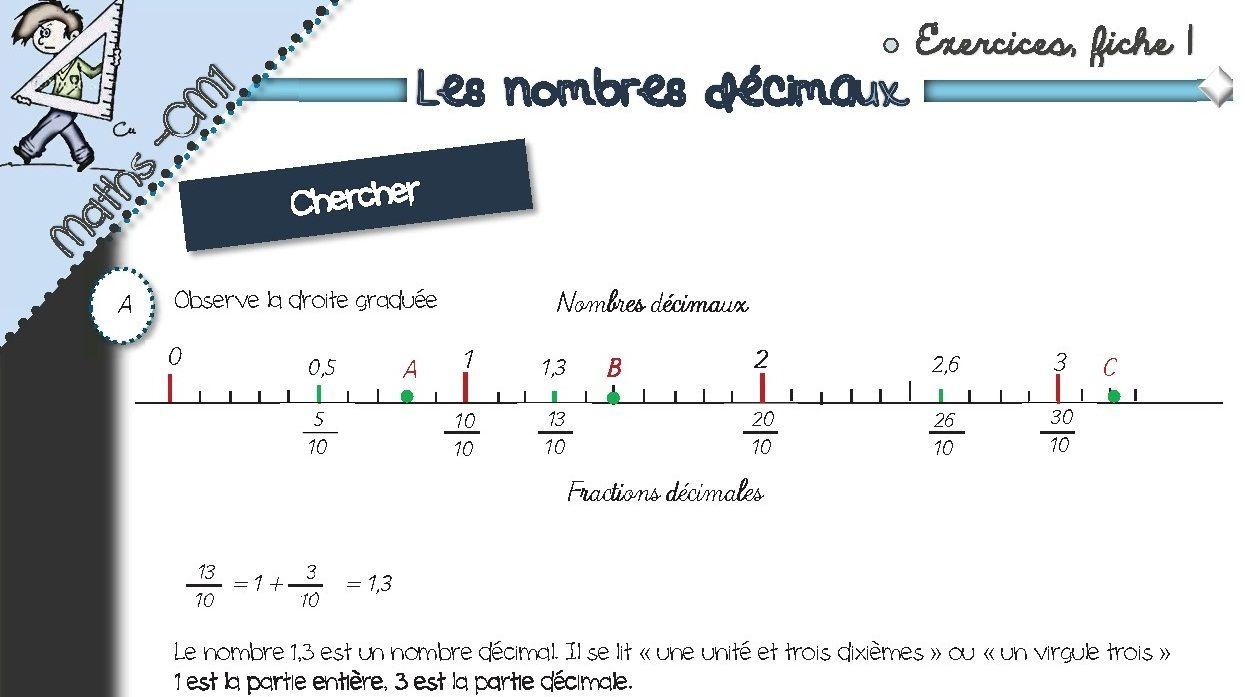 Fiches exos numération CM1 -Nombres décimaux | Les nombres ...