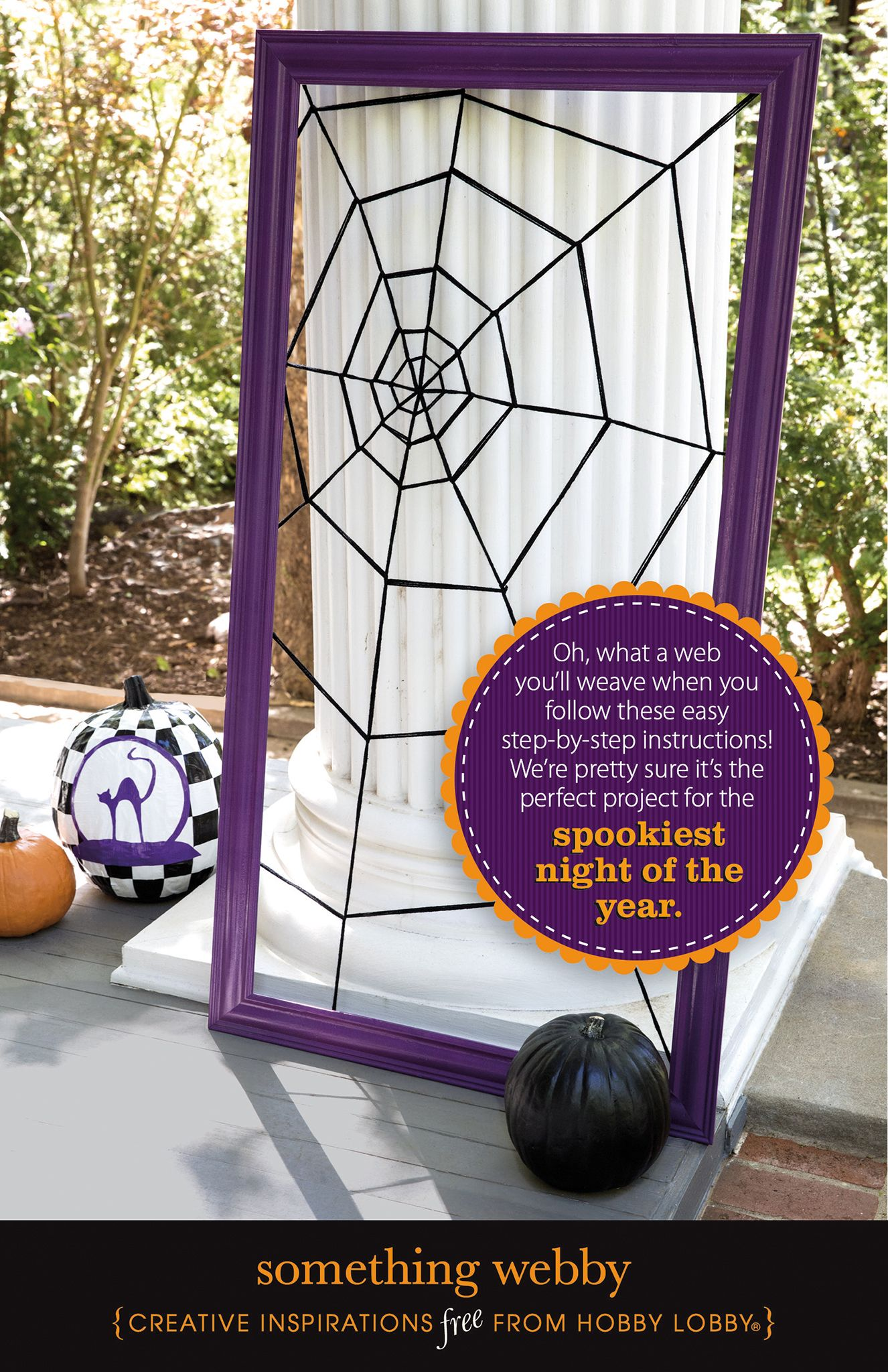 Hobbylobby Projects Something Webby Halloween Crafts Decorations Halloween Spooktacular Birthday Halloween Party