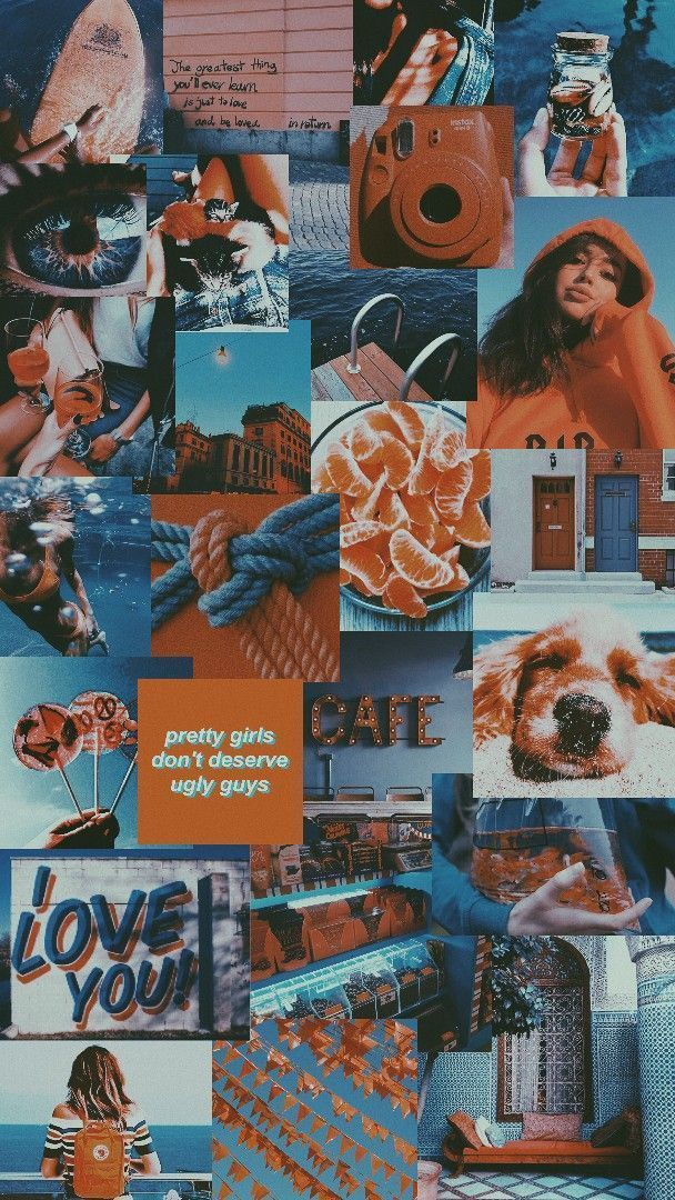 Latest blue and orange aesthetic