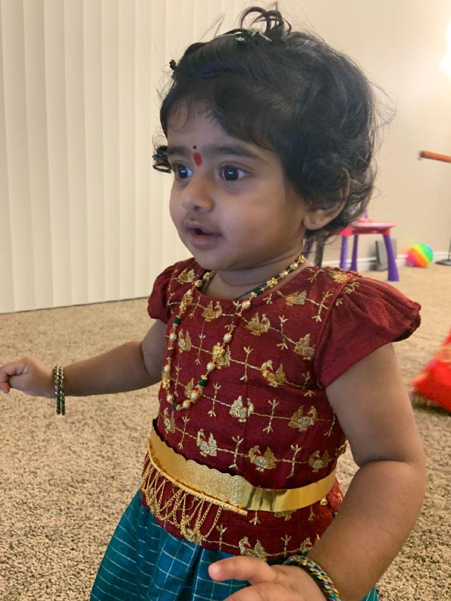 Baby Dandiya in Traditional wear
