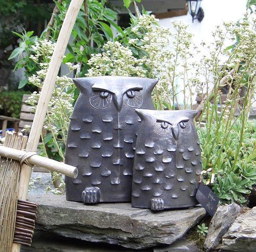 keramik eulen figuren skulpturen pinterest keramik. Black Bedroom Furniture Sets. Home Design Ideas