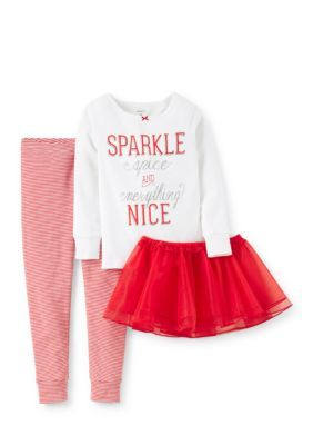 Carters  3-Piece Holiday Tee Tutu and Legging Set