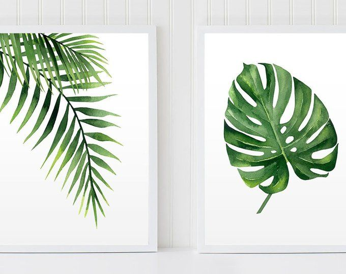 Tropical Art Set Set Of 4 Tropical Leaves Monstera Leaf Set Etsy In 2020 Tropical Art Leaf Wall Art Plant Painting Design great graphics about tropical vacation centers, spring break, beach and more with this set of tropical leafs and decorate your project, shop or publication. pinterest