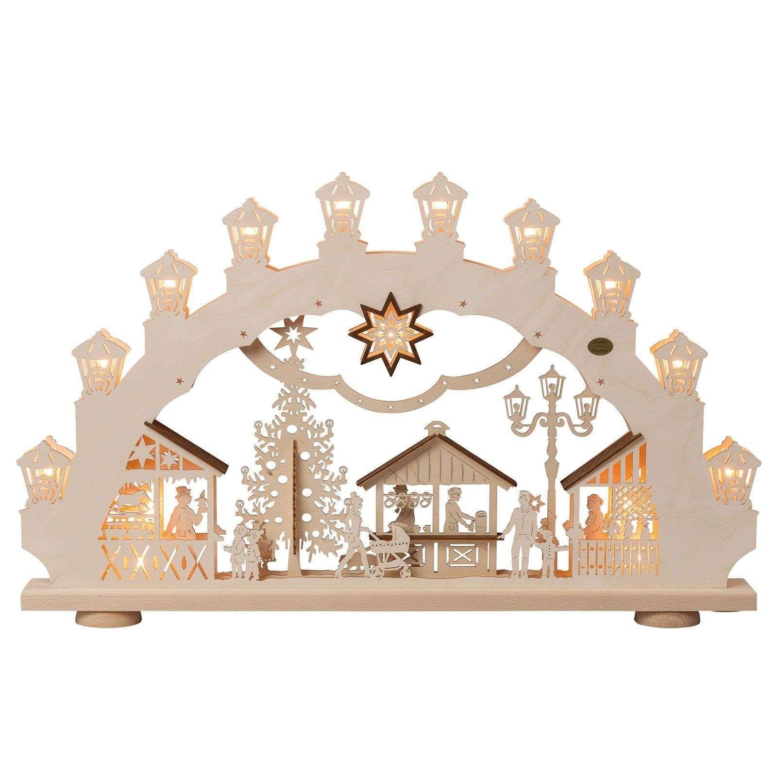 Arc lumineux Marché de Noël 3D, 2 motifs de Saico #marchédenoel Arc lumineux Marché de Noël 3D, 2 motifs de Saico #marchédenoel