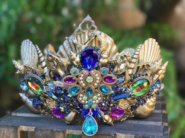 Custom Designed Deluxe Mermaid Crown